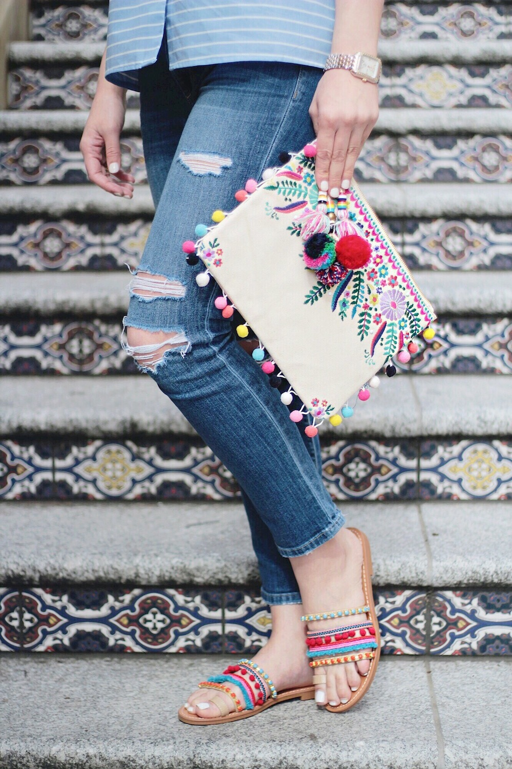 steve madden embroidered clutch rachel puccetti between two coasts