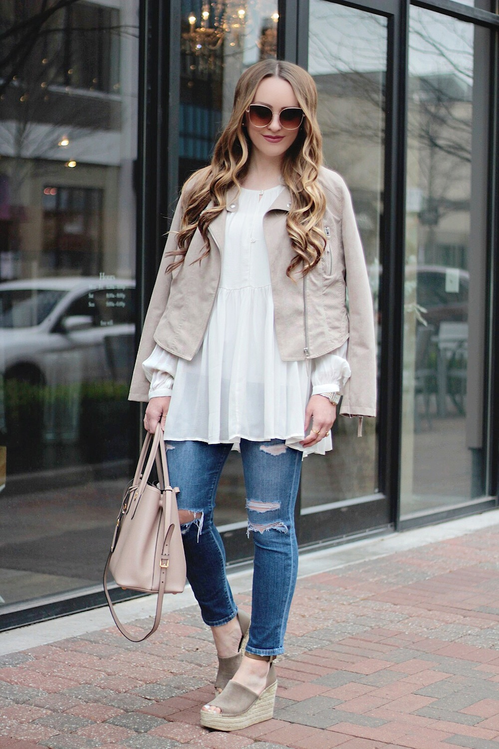 spring outfit ideas moto jacket rachel puccetti between two coasts