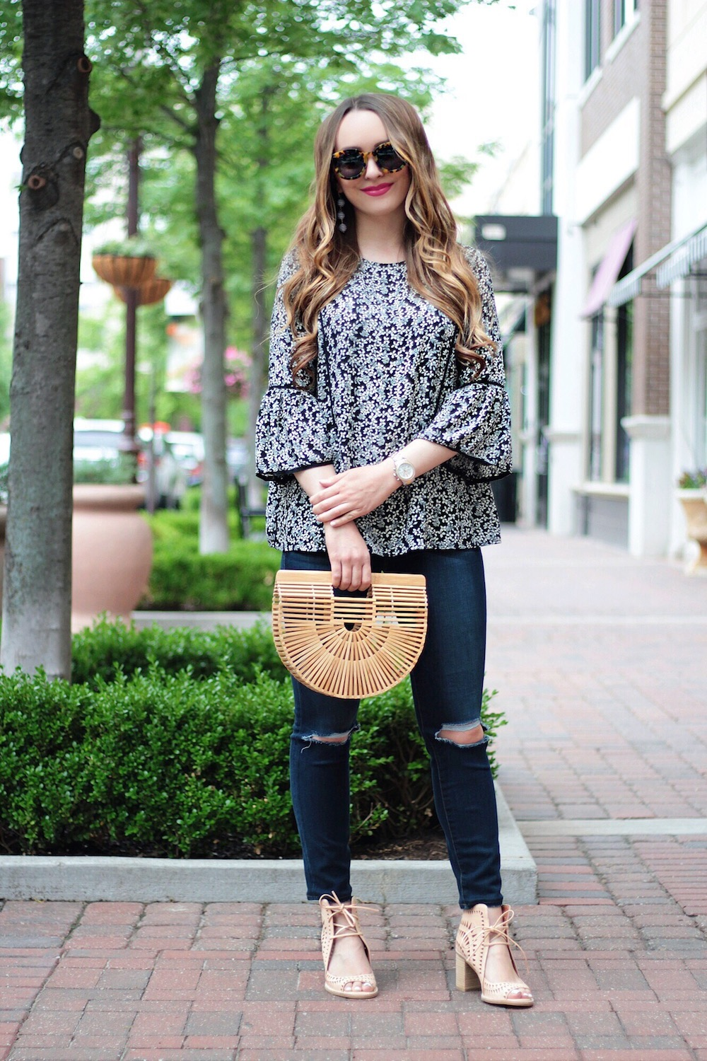 floral top style blogger rachel puccetti between two coasts