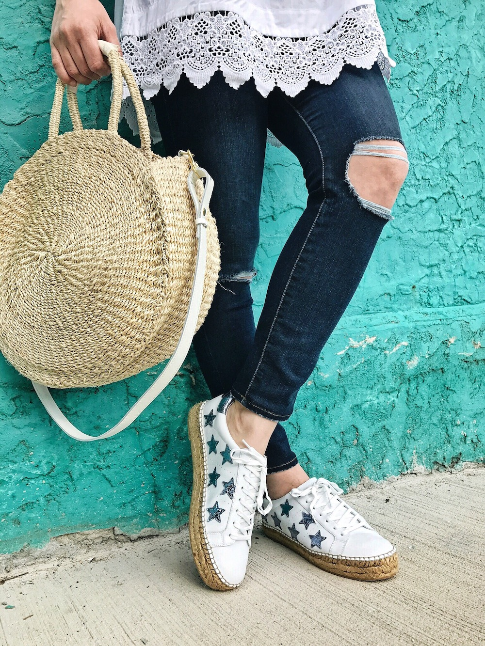 marc fisher espadrille sneakers style influencer rachel puccetti