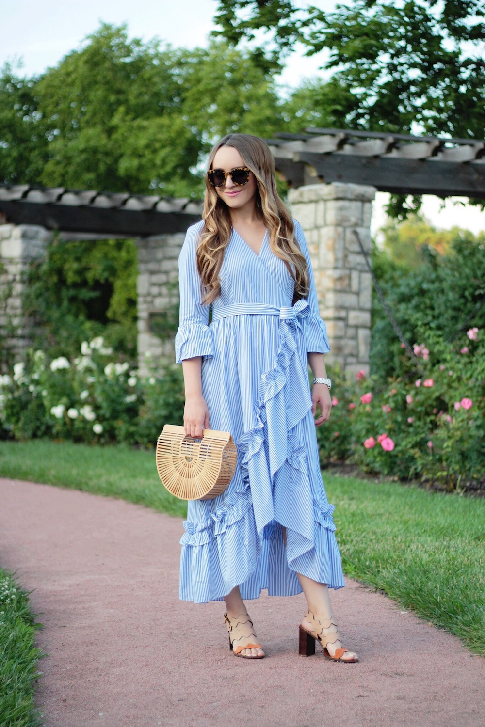 summer outfit inspiration wrap dress rachel puccetti