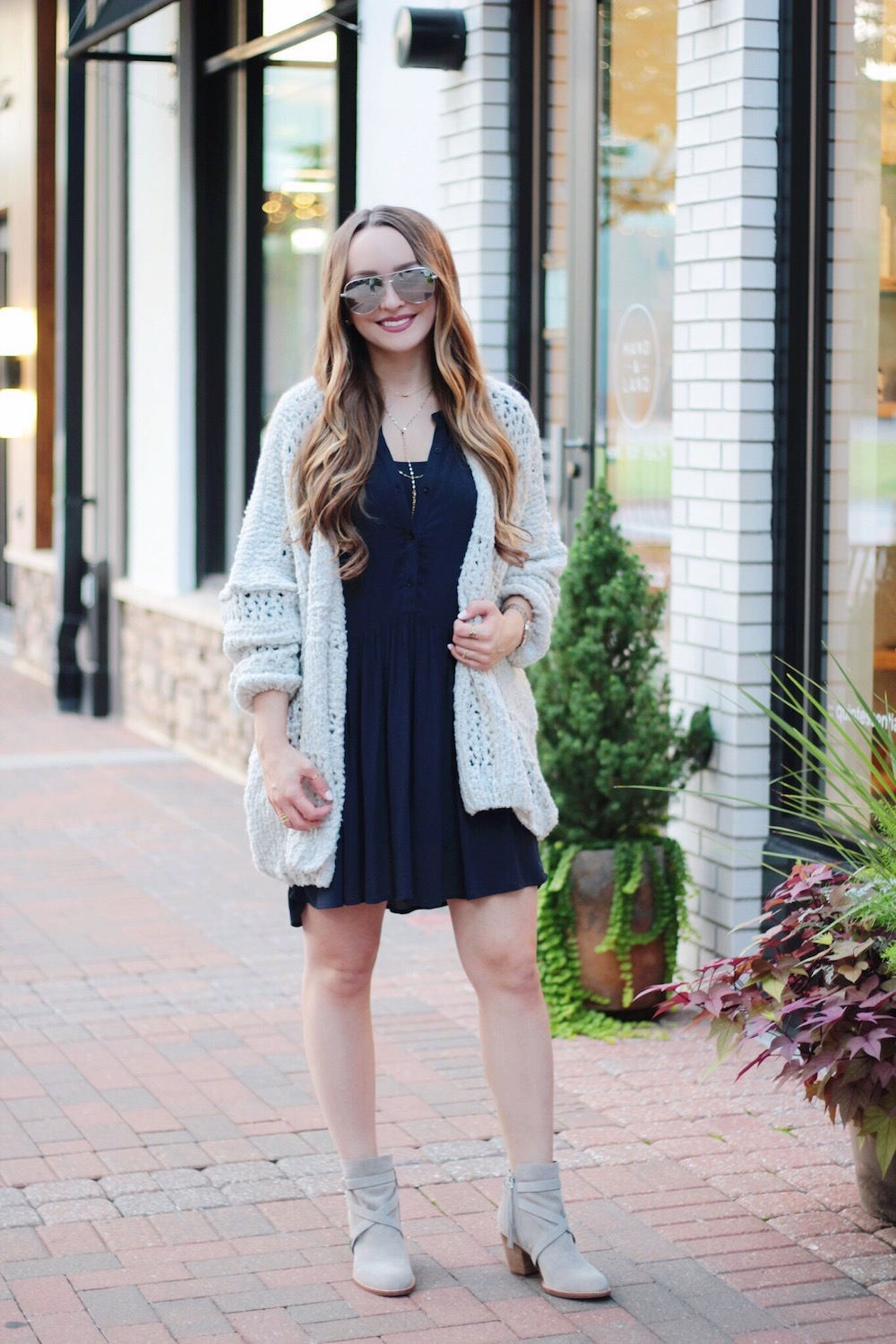 dress and sweater fall style rachel puccetti