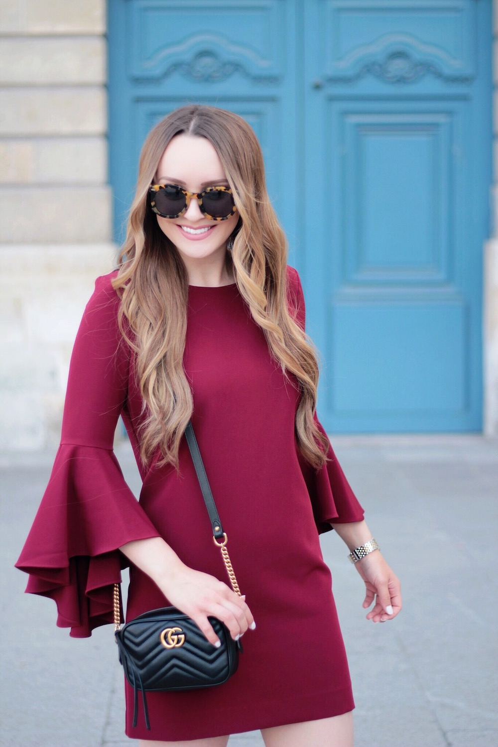milly bell sleeve dress rachel puccetti between two coasts