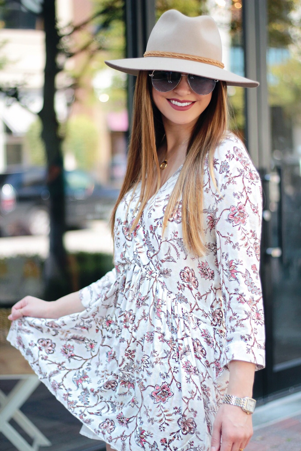 perfect floral dress for fall rachel puccetti between two coasts