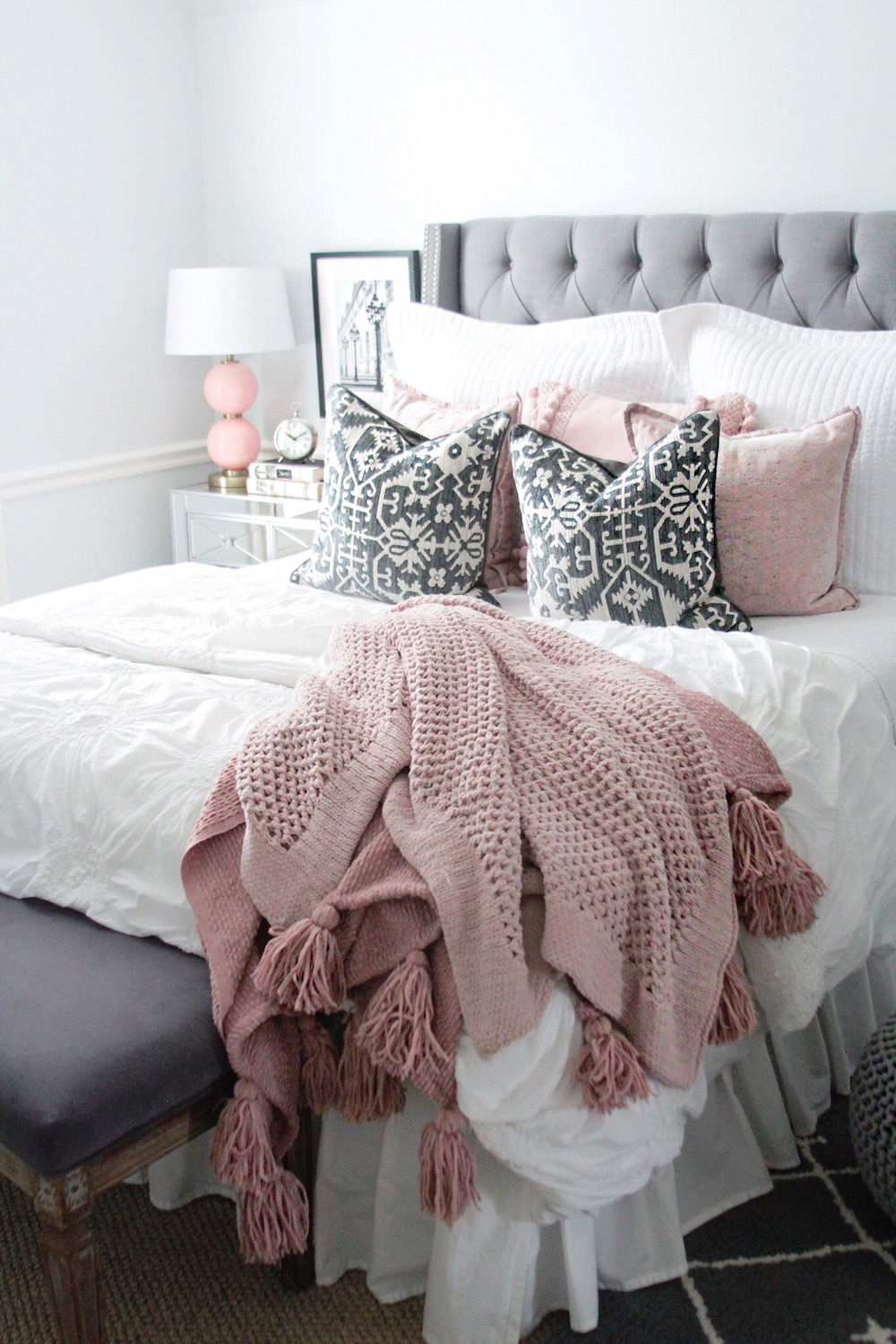 pink and grey bedding rachel puccetti