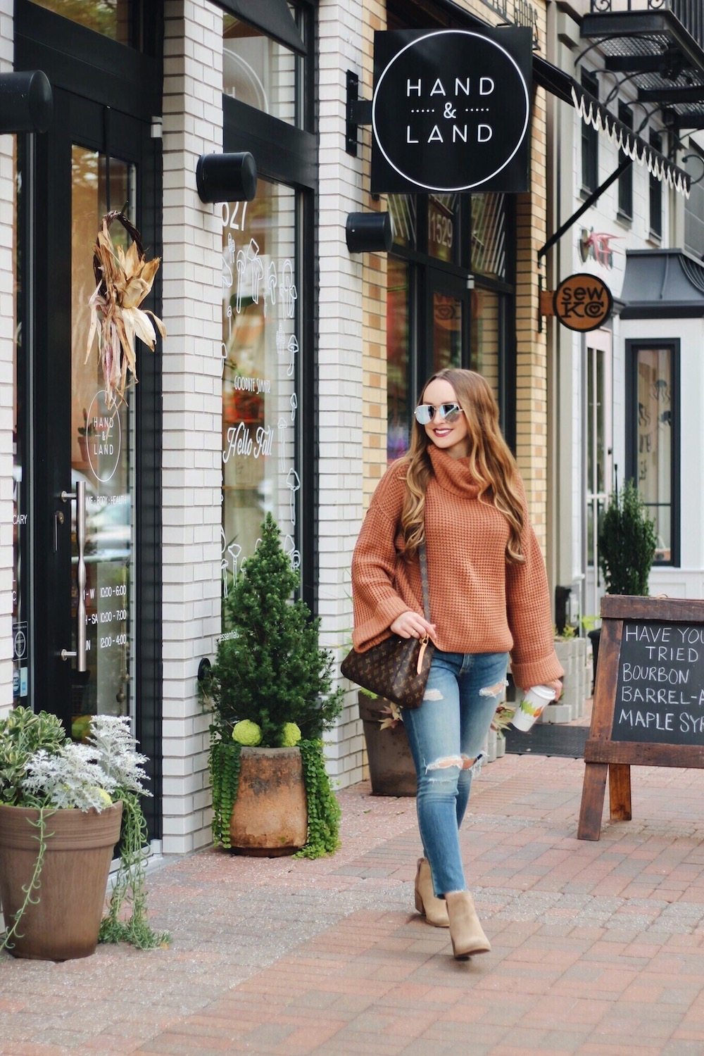 favorite fall sweater outfit rachel puccetti between two coasts