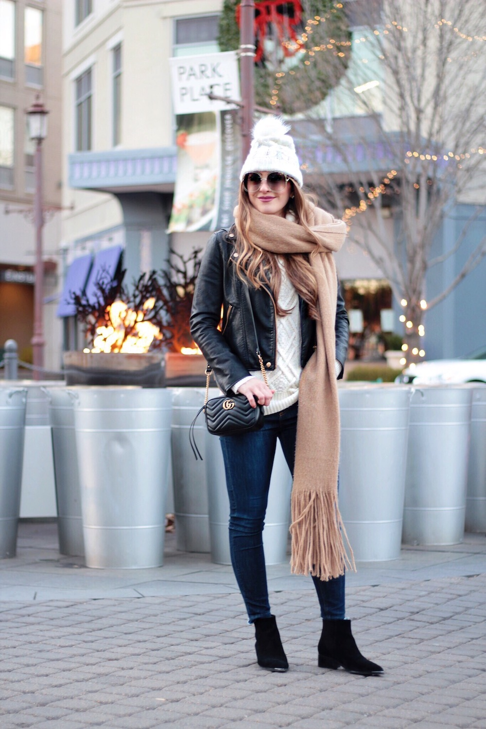 moto jacket winter outfit rachel puccetti