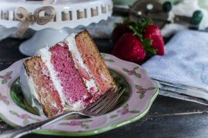 Paleo Strawberry Rose Cake