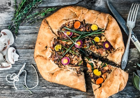 Paleo Rustic Chicken and Leeks Galette
