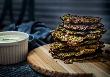 Bacon Zucchini Fritters