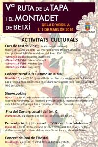 Ruta de la tapa: activitats culturals