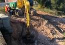 Comencen les obres de construcció de la passarel.la per a vianants sobre el riu Sec