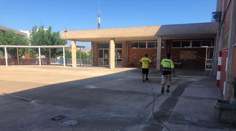 S'inicien les obres de la fase III de la reforma del Col.legi Cervantes – J. Dualde