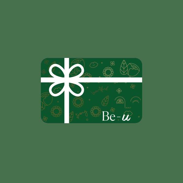 carte cadeau verte de Be U