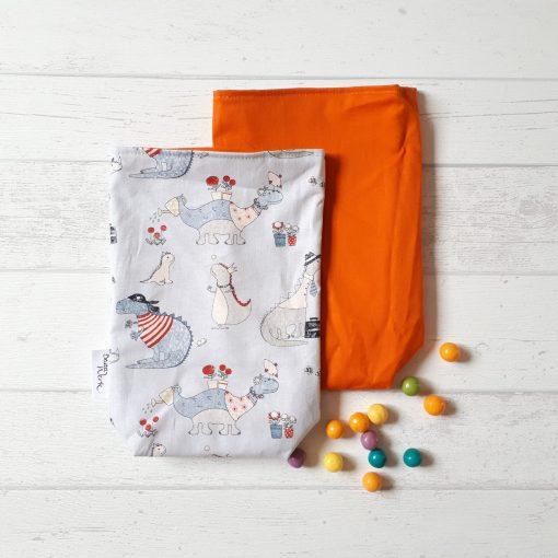Geschenkbeutel Drachenkinder orange