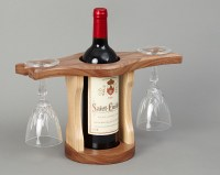 Wine Bottle & Glass Holder | Beveledge