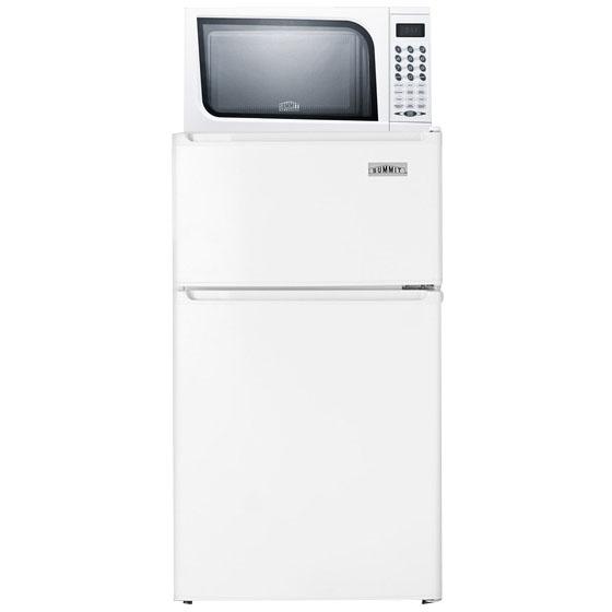 refrigerator freezer microwave combo white