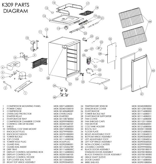 small resolution of kegco mdk 309b 01 kegerator cabinet only black cabinet and door beveragefactory com