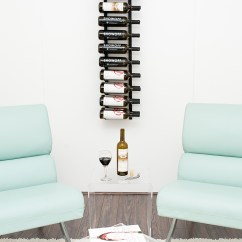 Wine Rack In Living Room Light Paint Colors Vintage View Ws42 K 24 Bottle Vintageview Satin Black 4 Wall Mount Finish