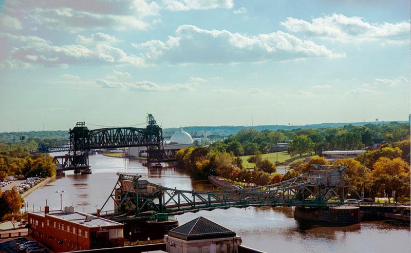 Joliet Historical Bridge-Rail Lift Bridge