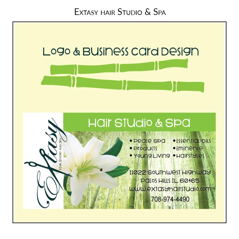 extasy hair salon Logo Design
