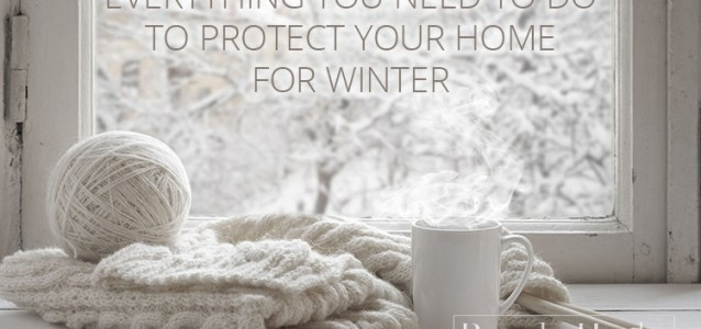 A checklist for winterizing your home.