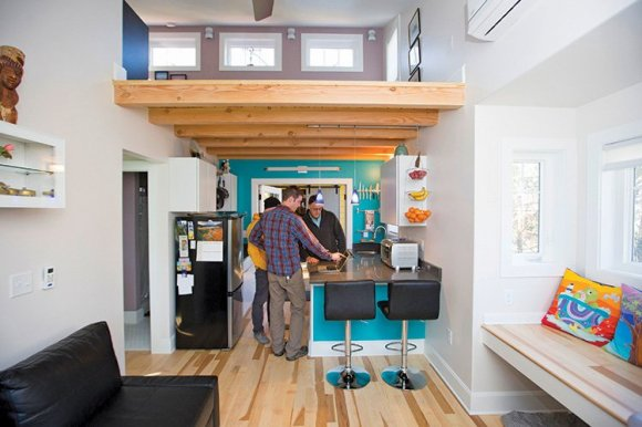 Wishbone Tiny Homes aims to build sustainable structures and also sustainable relationships with local nonprofits.