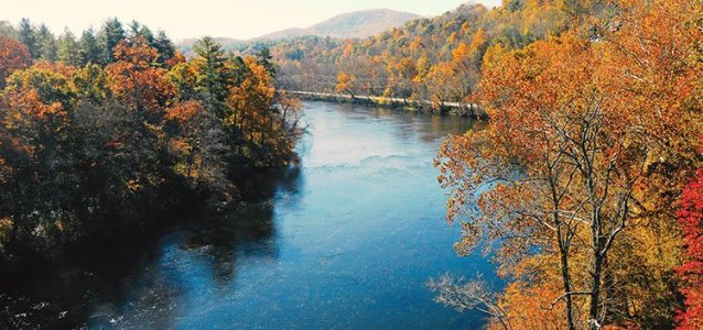 The French Broad River is the 218-mile aquatic heart of Western North Carolina.
