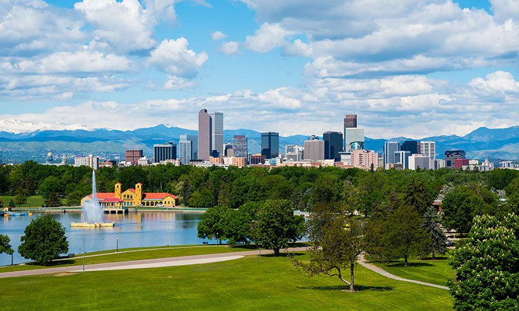 Fly direct from Asheville, NC to Denver, CO