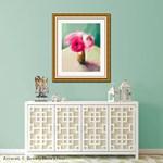 Process: Pink Ranunculus Floral Art