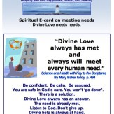 example of Beverly Goldsmith's printable cards with spiritual healing advice and Christian Science teachings