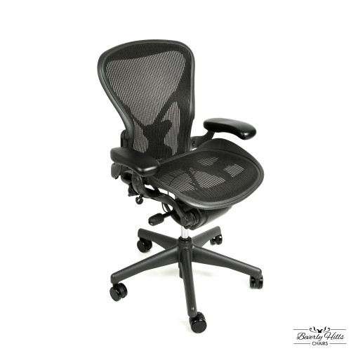 white aeron chair navy slipper herman miller fully adjustable with posture fit from beverly hills chairs