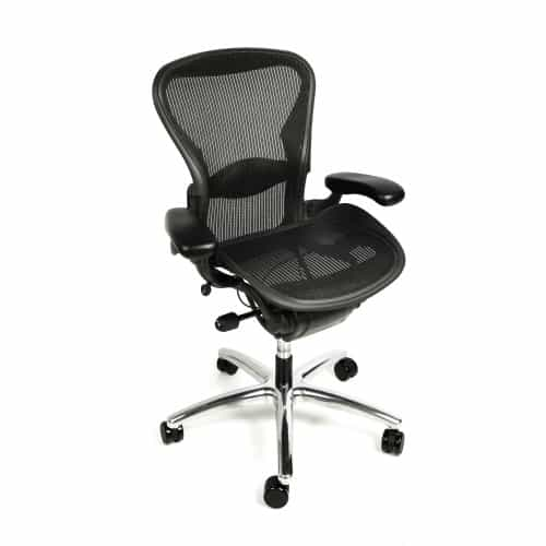white aeron chair hon volt chairs herman miller fully adjustable with polished from beverly hills