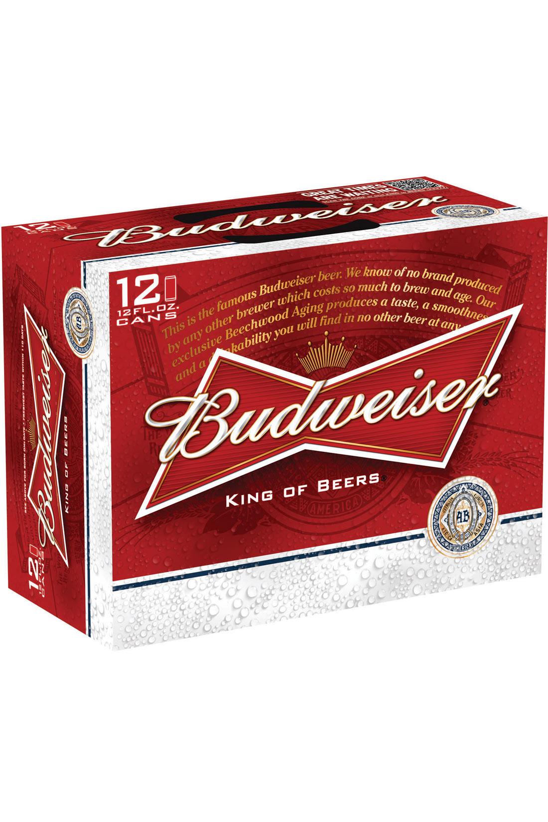 Budweiser 12 Pack 12 Oz Cans
