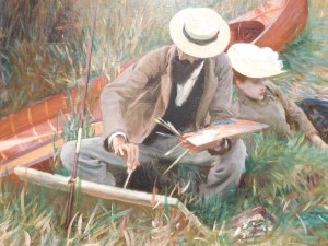 An Out-of-Doors Stud by John Singer Sargent, 1889, Oil on canvas