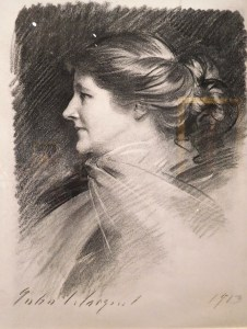 """""""Mary Anderson"""" by John Singer Sargent, 1913, Charcoal on paper."""