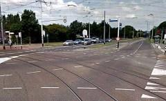 Ingang wijk Beverwaard bij Groeninx van Zoelenlaan