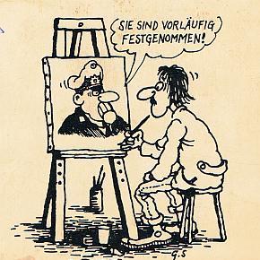 Gerhard Seyfried im Caricatura Museum