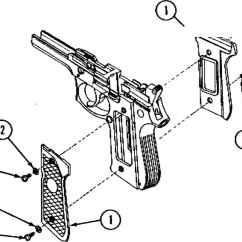 Generic Semi Auto Handgun Parts Diagram 2004 Silverado Bose Stereo Wiring 92 Army Pistol Disassembly Beretta 92f 9mm