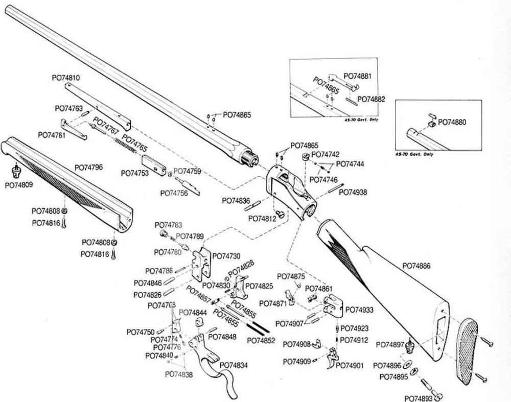 medium resolution of schematic single shot rifle