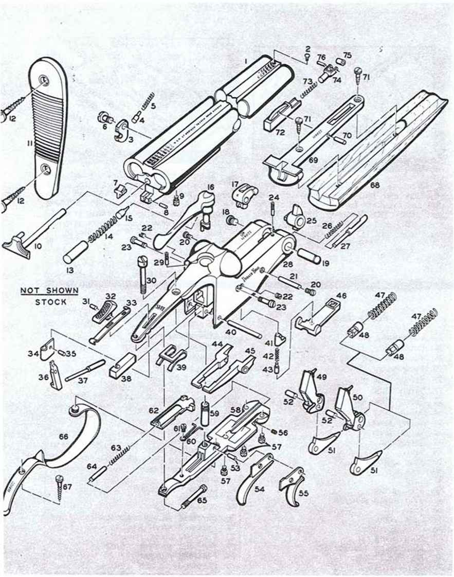 hight resolution of remingtonmodel8 disassembly