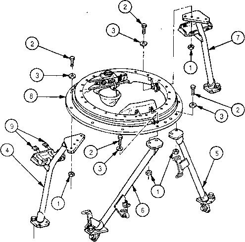 M Machine Gun Mount Legs And Attaching Hardwaremaintenance