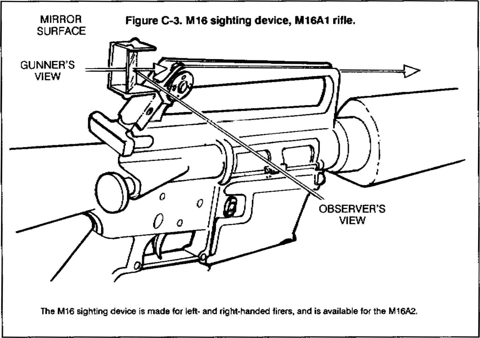 Black Figure Aiming Rifle