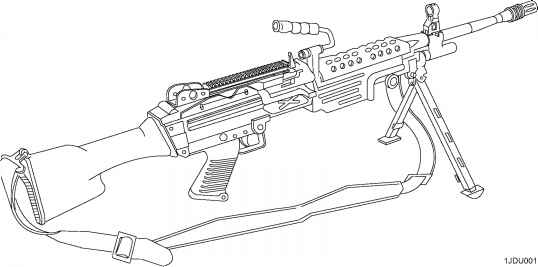 Machine Gun Mm M wEquip Nsn Eic Bg Ar Role Nsn Eic Bk Lmg