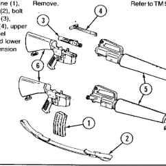 M16 Upper Receiver Assembly Diagram Heater Element Wiring Major Components Of Mma Rifle 5 56mm And M16a1