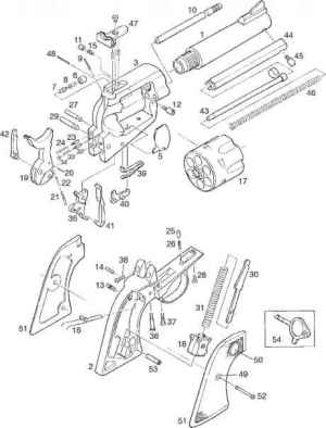Parts List  Ruger Blackhawk Single Action Revolver