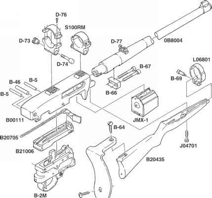 ruger ar 15 exploded diagram 1988 ford f 150 wiring ordering parts model 10 22 magnum b 64 x c 63