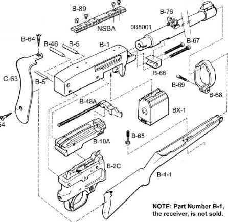 M1 Garand Exploded Diagram