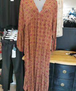 Robe longue marron grande taille