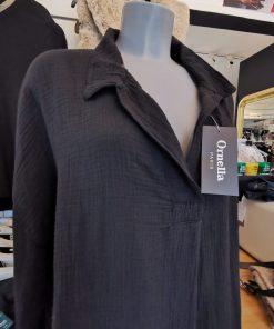 Robe tunique mi-longue noire